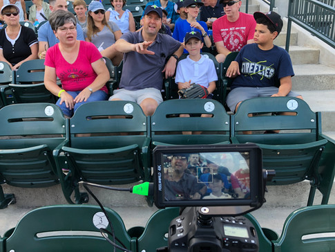Setting up at Fireflies Game