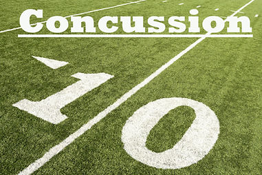 American football with concussion text.j
