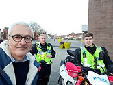 JV with police bike squad.jpg