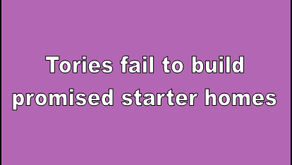 Tories fail to build promised starter homes
