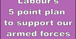 Labour's 5 point plan for service men and women