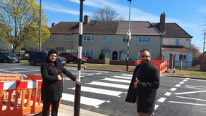 Councillors Welcome New Zebra Crossing on Elstow Road