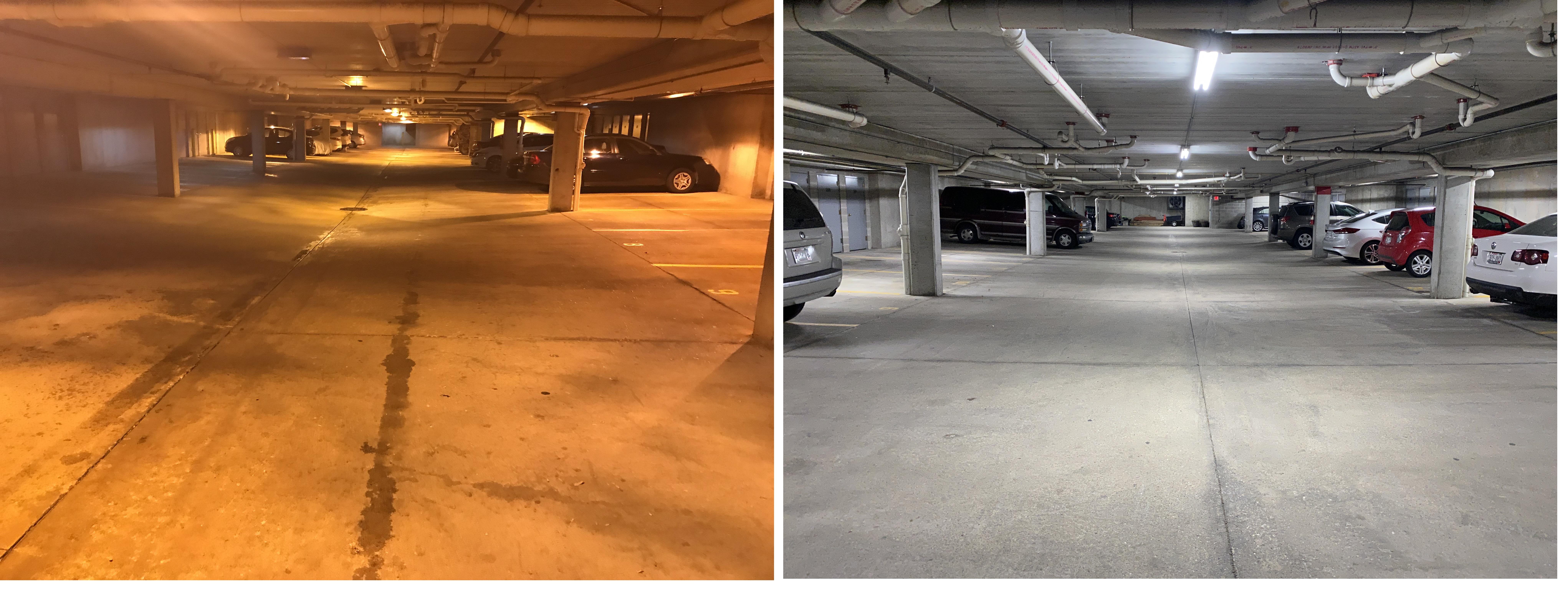 LED garage fixtures