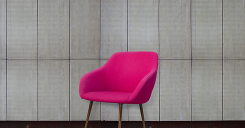 Pink armchair