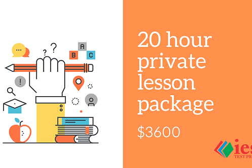 20 Hour Private Tutoring Package