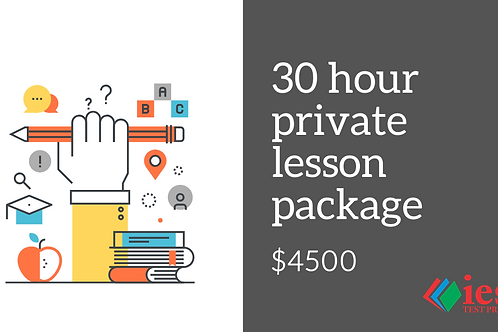 30 Hour Private Tutoring Package