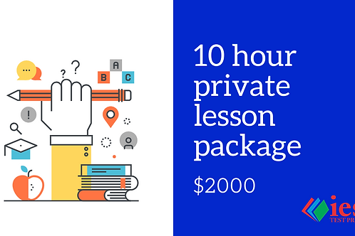 10 Hour Private Tutoring Package