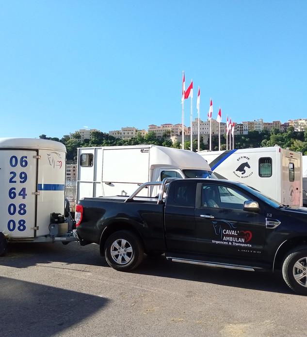 Transport de 6 chevaux pour le Jumping de Monaco 2021