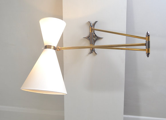 Articulating wall lamp. France c.1960