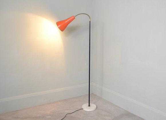 Floor lamp with orange shade. Italy c.1950