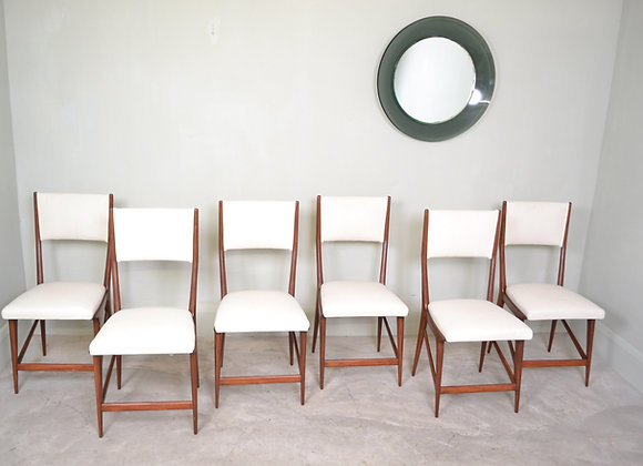 Six Italian dining chairs