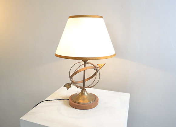 Bronze arrow table lamp
