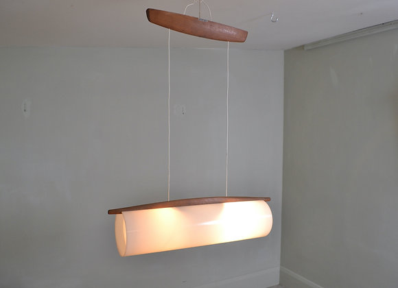 Perspex hanging light. Sweden c.1960