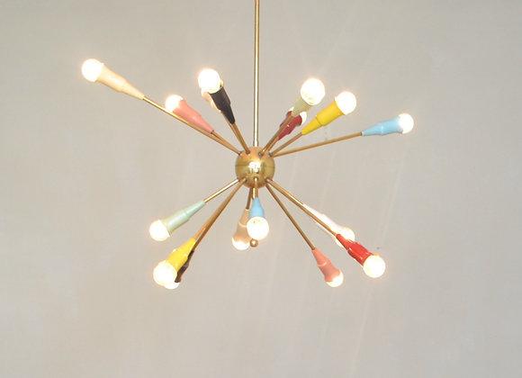 Colourful sputnik chandelier