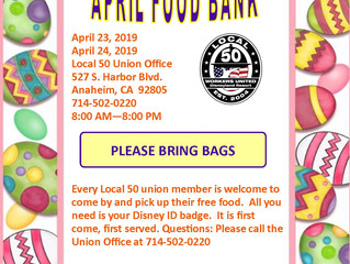 APRIL FOOD BANK