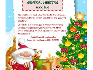 GENERAL MEETING & CHRISTMAS PARTY