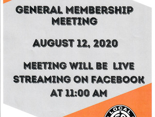 AUGUST GENERAL MEMBERSHIP MEETING