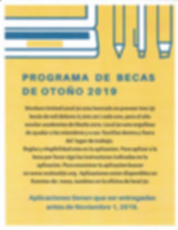 Spanish Fall 2019 Scholarship Flyer.jpg