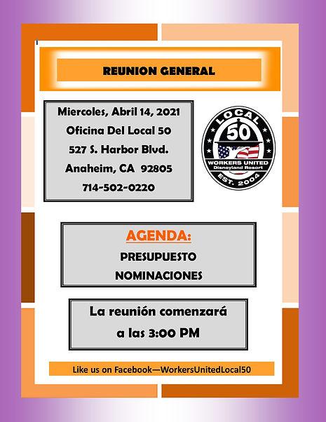 Spanish 04.21 General Member Meeting & N