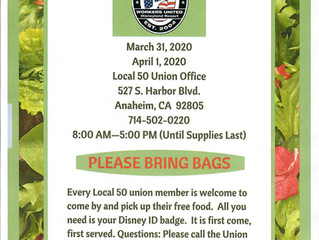 MARCH FOOD BANK - CHANGE OF TIME AND ADDED ADDITIONAL DAY