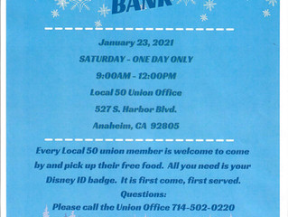 JANUARY 2021 FOOD BANK