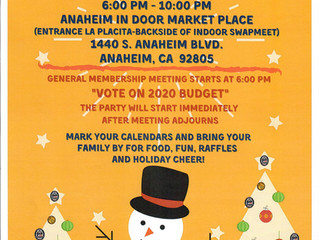 GENERAL MEMBERSHIP MEETING AND CHRISTMAS PARTY