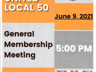 JUNE GENERAL MEMBERSHIP MEETING