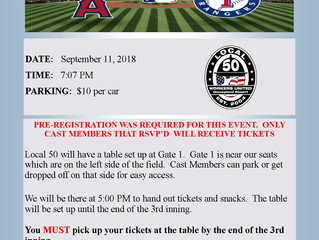 UPDATE - ANGELS GAME 9/11/18
