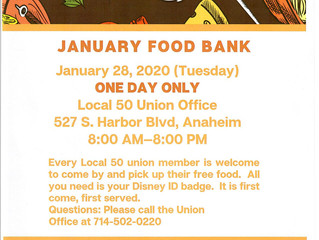 JANUARY FOOD BANK
