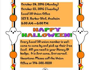 October Food Bank Dates