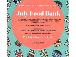 JULY FOOD BANK