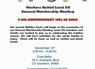 GENERAL MEMBERSHIP & HOLIDAY PARTY