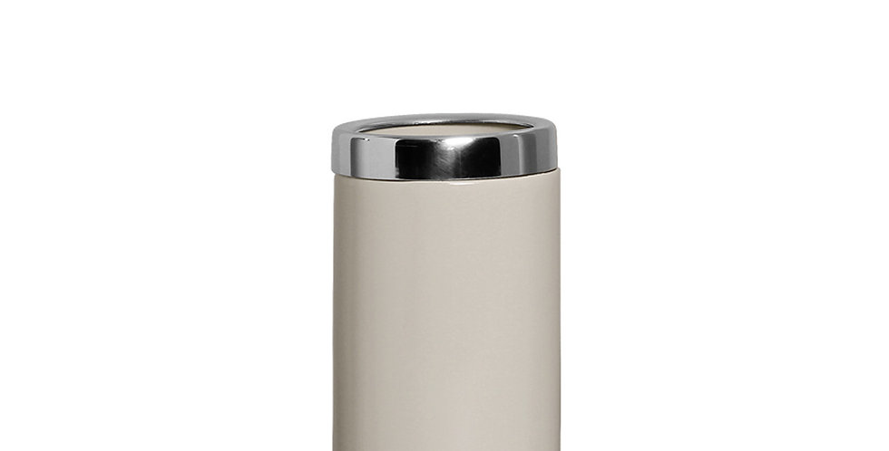 Vaso c/alumínio Off White