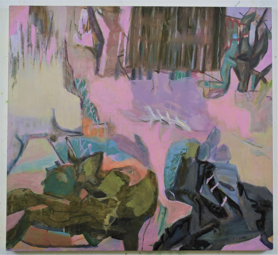 Hibernation II, 26 x 28in, Oil on Panle