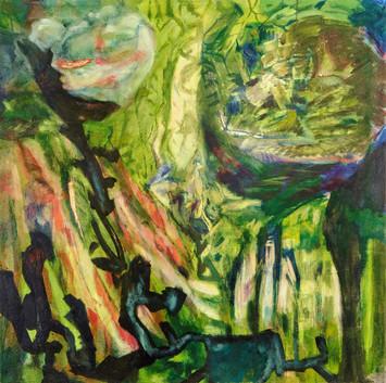 Soon Born, 30 x 30in, Oil on Canvas