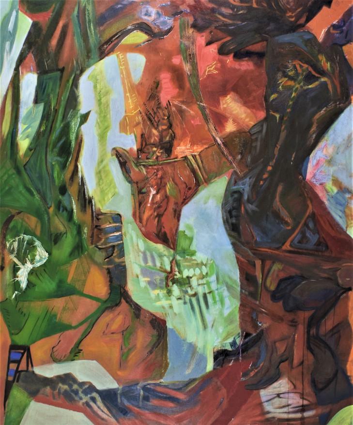 Fallen, 52 x 42in, Oil on Canvas