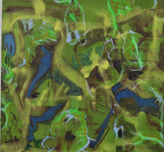 Firefly II, 18 x 18in, Acrylic on Canvas
