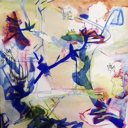 Flight Pattern, 19x19in, Acrylic