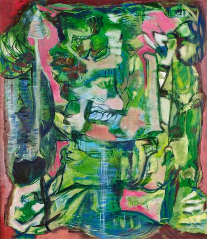 Mis-En-Scene, 38 x 34in, Oil on Canvas