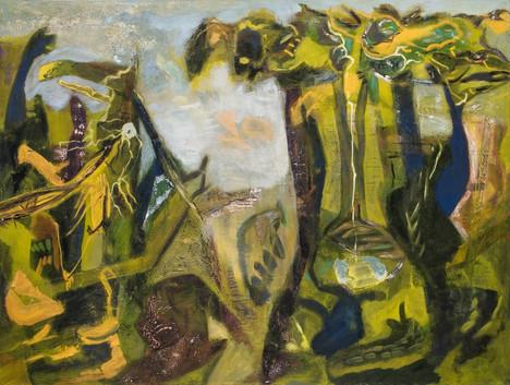 Desert Gang, 36 x 40in, Oil on Canvas