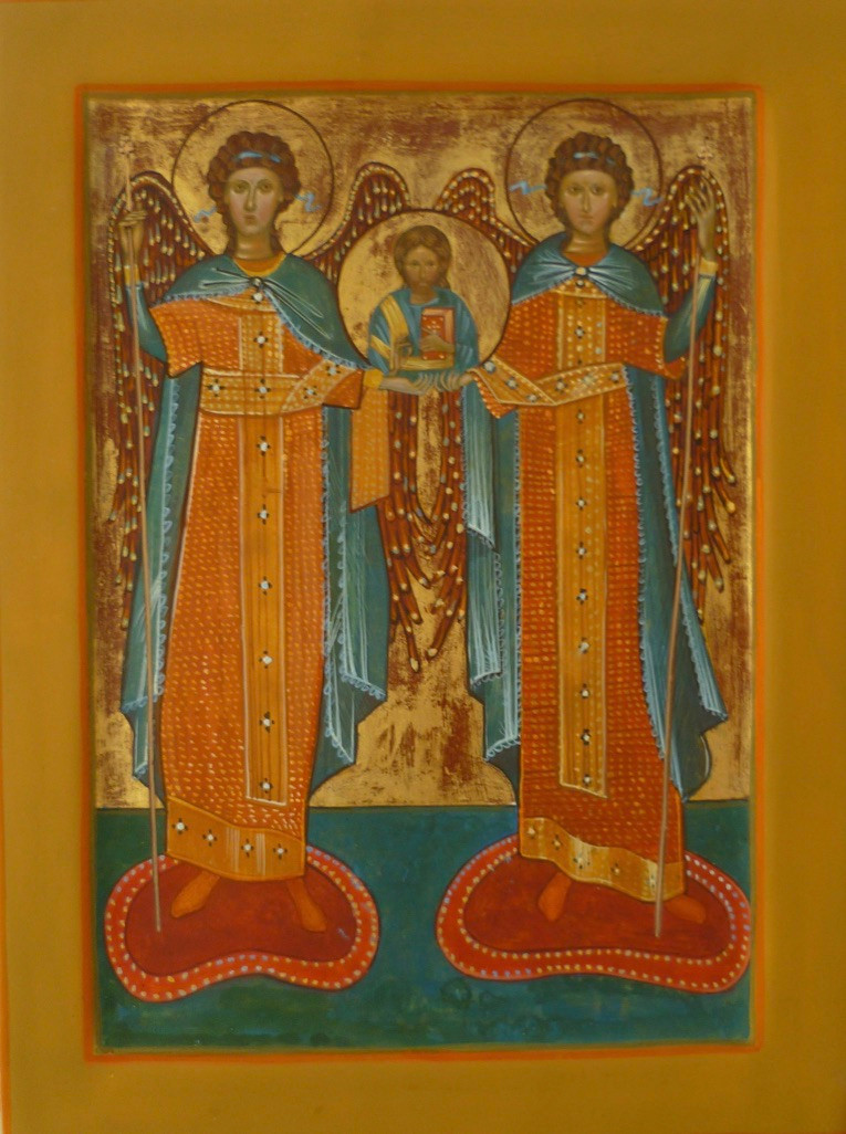 The Saviour with two Archangels