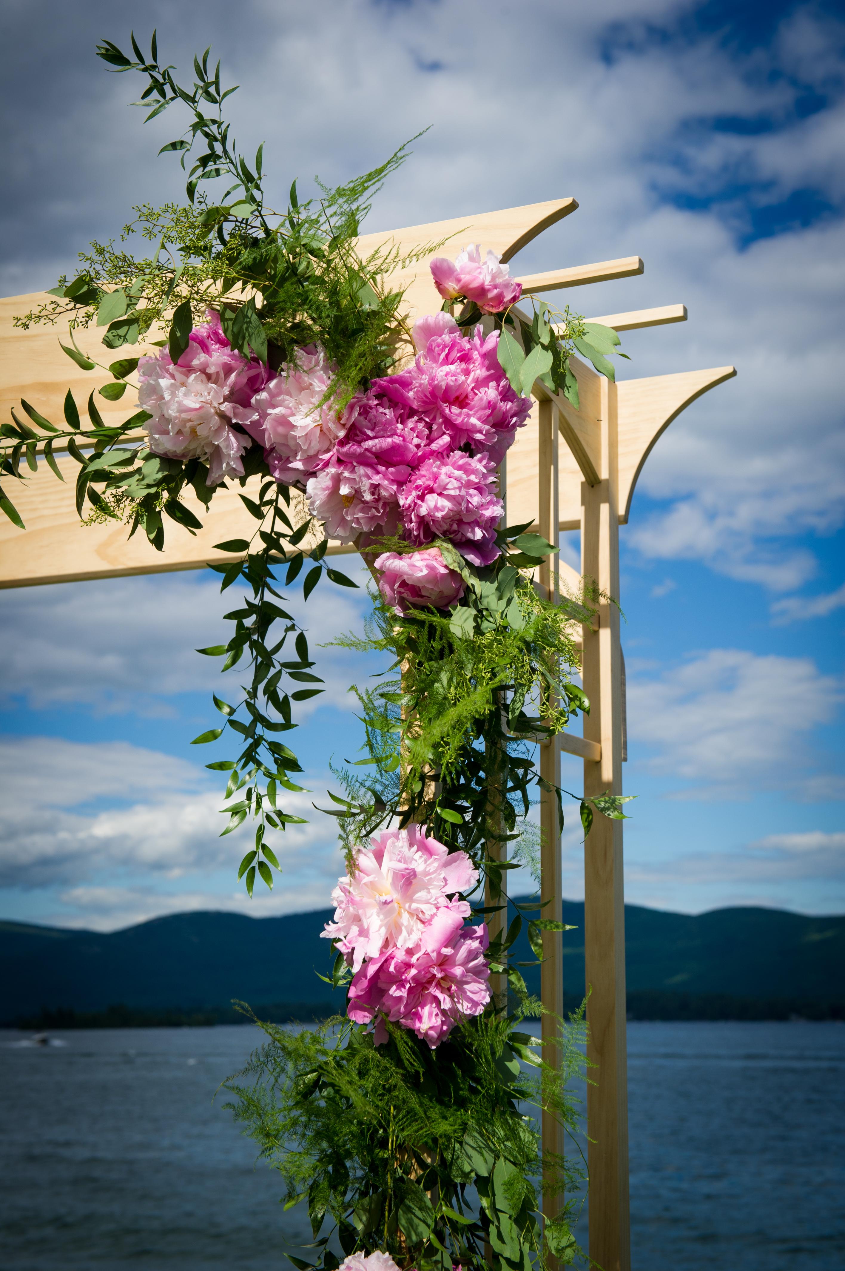 Pine Wedding Arbor