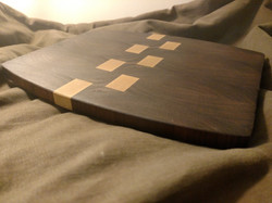 Black Walnut and Ash Cutting Board