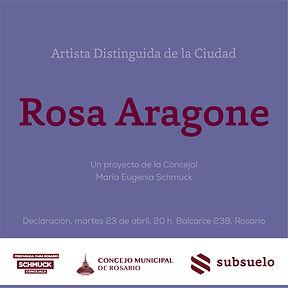 Rosa Aragone Artista Distinguida_redes s