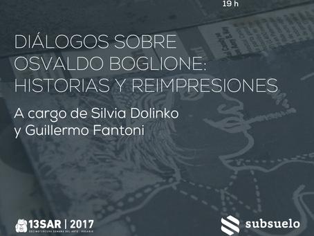 Diálogos sobre Osvaldo Boglione: Historias y reimpresiones.