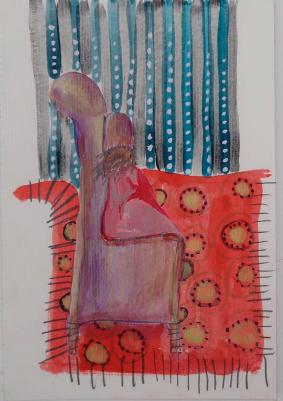 acuarela y grafito, 14 x 21 cm - 2018