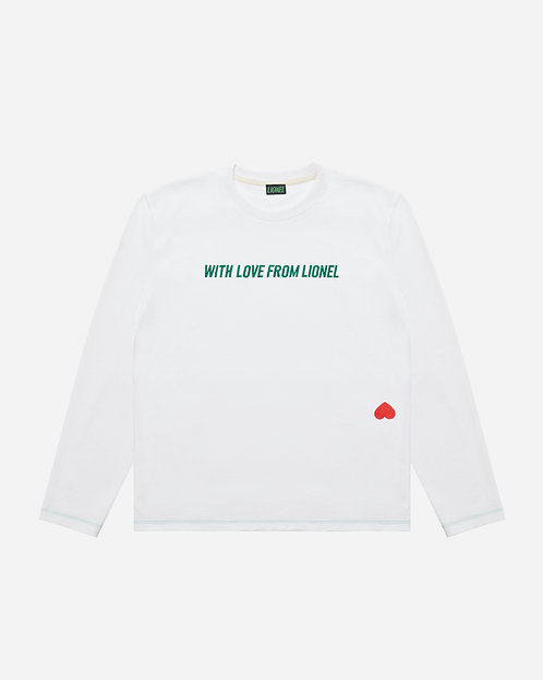 White Long Sleeve With Love From Lionel Tee