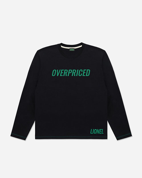 Black Overpriced Long Sleeve Tee