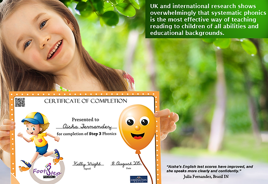 FootStep Phonics Certificate of Completion