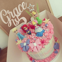 A cake fit for a little princess.